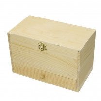 Holzschatulle, 23 x 13 x 15 cm, roh