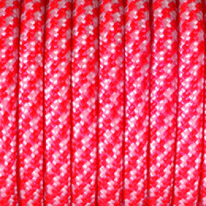 Paracord, Farbmix, 4 mm x 50 m, rot weiß