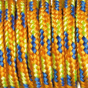 Paracord, Farbmix, 2 mm x 50 m, orange blau hellgrün