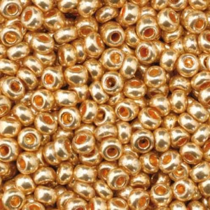 Indianerperlen metallic, d 2.6 mm, 17 g, rotgold