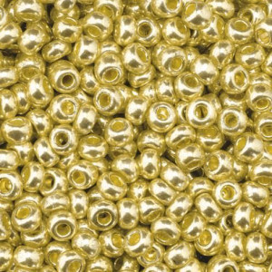 Indianerperlen metallic, d 2.6 mm, 17 g, gold