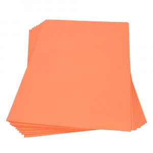 Moosgummiplatte, 300 x 450 x 2 mm, orange, 2 Platten im SET