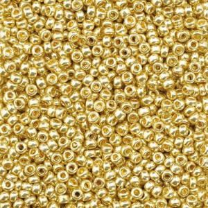 Indianerperlen metallic, d 2.2 mm, 17 g, gold