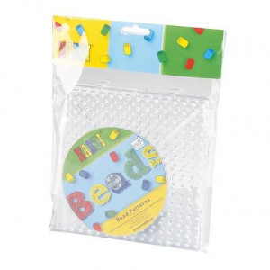 Nabbi ® Jumbo Legeplatten Set, 15 x 15 cm, 2 Stück, transparent