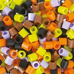 Nabbi® Jumbo Beads -Bügelperle, ø10 x H10 mm, Herbst Mix