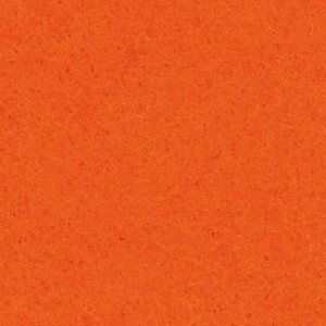 Filzplatte, 100% Polyester, 30 x 45 cm x 3.0 mm, 550 g/m², orange