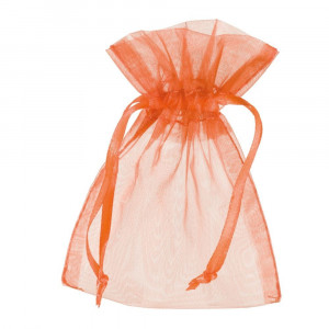 Beutel Organza, 7.5 x 10 cm, orange