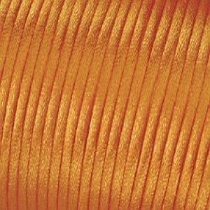 Kordel-Satin, 2 mm, 50 m, orange