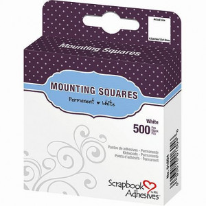 Mounting Squares, 12 x 13 mm, 500 Stück weiss