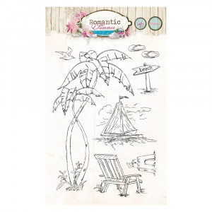 Stempel Clear, Romantic Summer, A6 / 105 x 148 mm, 7 - teilig, transparent 144