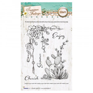 Stempel Clear, Summer Feelings, A6 / 105 x 148 mm, 7 - teilig, transparent 190