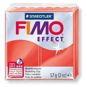 Fimo ® Effect 57 g, transparent - rot