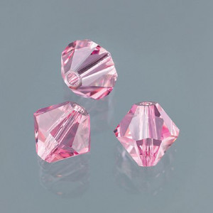 Swarovski Facettperle, 4 mm, 25 Stück light rose