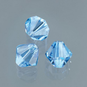 Swarovski Facettperle, 6 mm, 12 Stück light sapphire