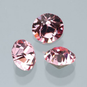 Swarovski Strass-Chatons, d 3 mm, 20 Stück light rose