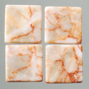 MosaixPur-Echtstein, 10 x 10 x 4 mm, 200 g ca. 205 Stck rot / weiss Marmor