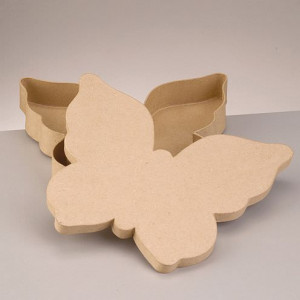 Box flach, Schmetterling, 23, 5 x 28 x 4 cm