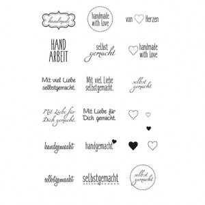 Stempel Clear, handmade, A7 / 74 x 105 mm, 21 - teilig, transparent