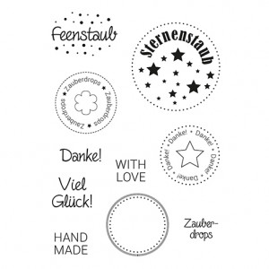 Stempel Clear, Zauberdrops, A7 / 74 x 105 mm, 10 - teilig, transparent