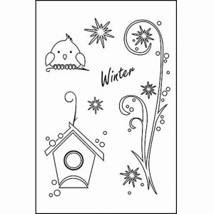Stempel Clear, Winter, A7 / 74 x 105 mm, 6 - teilig, transparent