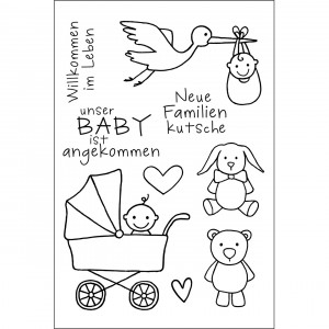Stempel Clear, Baby, A7 / 74 x 105 mm, 6 - teilig, transparent