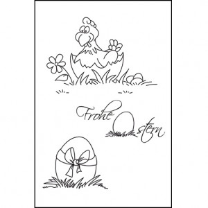 *NEU* Stempel Clear, Frohe Ostern, A7 / 74 x 105 mm, 3 - teilig, transparent