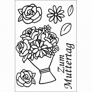 Stempel Clear, Zum Muttertag, A7 / 74 x 105 mm, 7 - teilig, transparent
