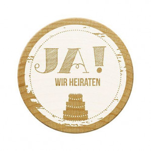 Woodies Stempel, Ja! Wir heiraten, ø¸ 30 mm,