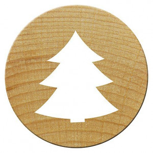Mini Woodies Stempel, Tannenbaum, ø 15 mm