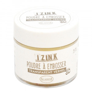 Aladine® IZINK Embossingpuder, Lackeffekt, 25 ml, transparent