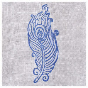 Fabric Creations™ Stempel, Bordüre Feather