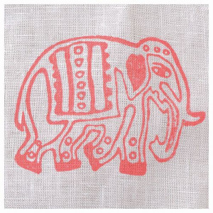 Fabric Creations™ Stempel, Medium Parade Elephant, ca. 7,7 x 5,5 cm