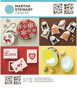 Martha Stewart Medium Stencil Portfolios, Holiday Icons, 22 x 24 cm, 2 Stück