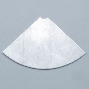 Collagen für Efcolor, Viertelkreis, Alu, 74 x 48 mm, 4 Stk.