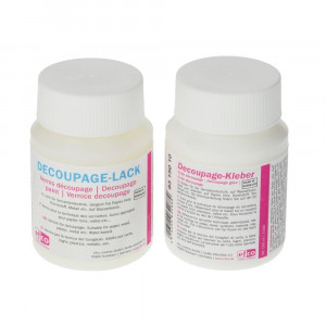 Decoupage-Set, 1 x Kleber, 1 x Lack, 2 x 100 ml,