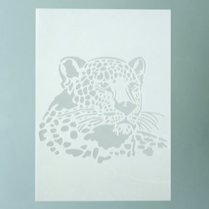 Stencils, Leopard / 1-teilig, DIN A 4