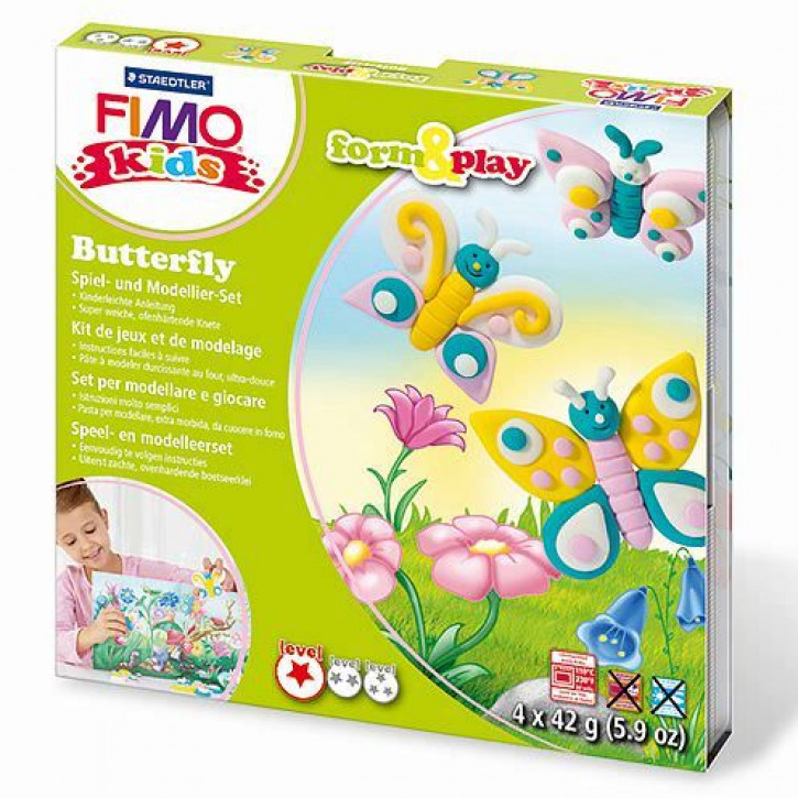 Fimo® Kids form & play, Butterfly, 7 - teilig,