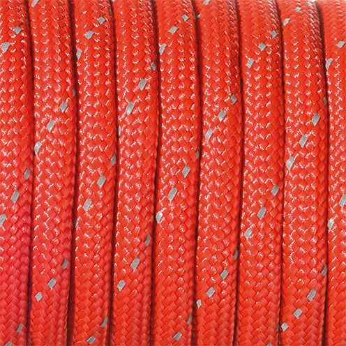 Paracord, reflektierend, 4 mm x 50 m, rot