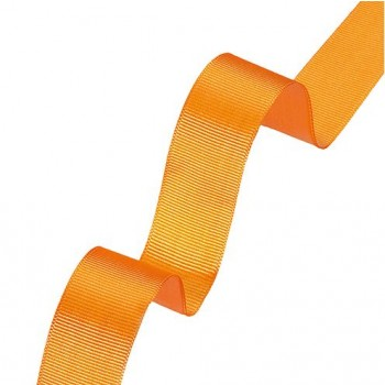 Dekoband Rips, 25 mm, orange, 20 m