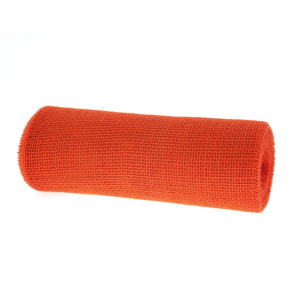 Tischband Jute, 30 cm, 10 m, orange