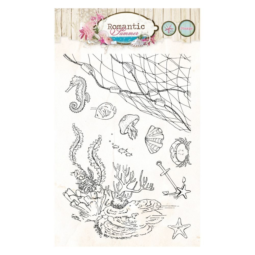 Stempel Clear, Romantic Summer, A6 / 105 x 148 mm, 10 - teilig, transparent 146