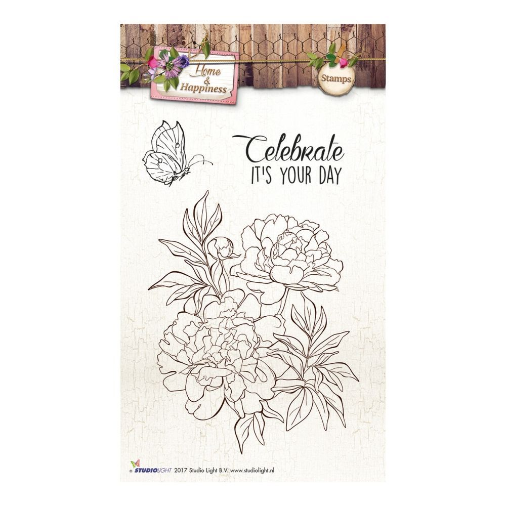 Stempel Clear, Home & Happiness, A6 / 105 x 148 mm, 2 - teilig, transparent 169