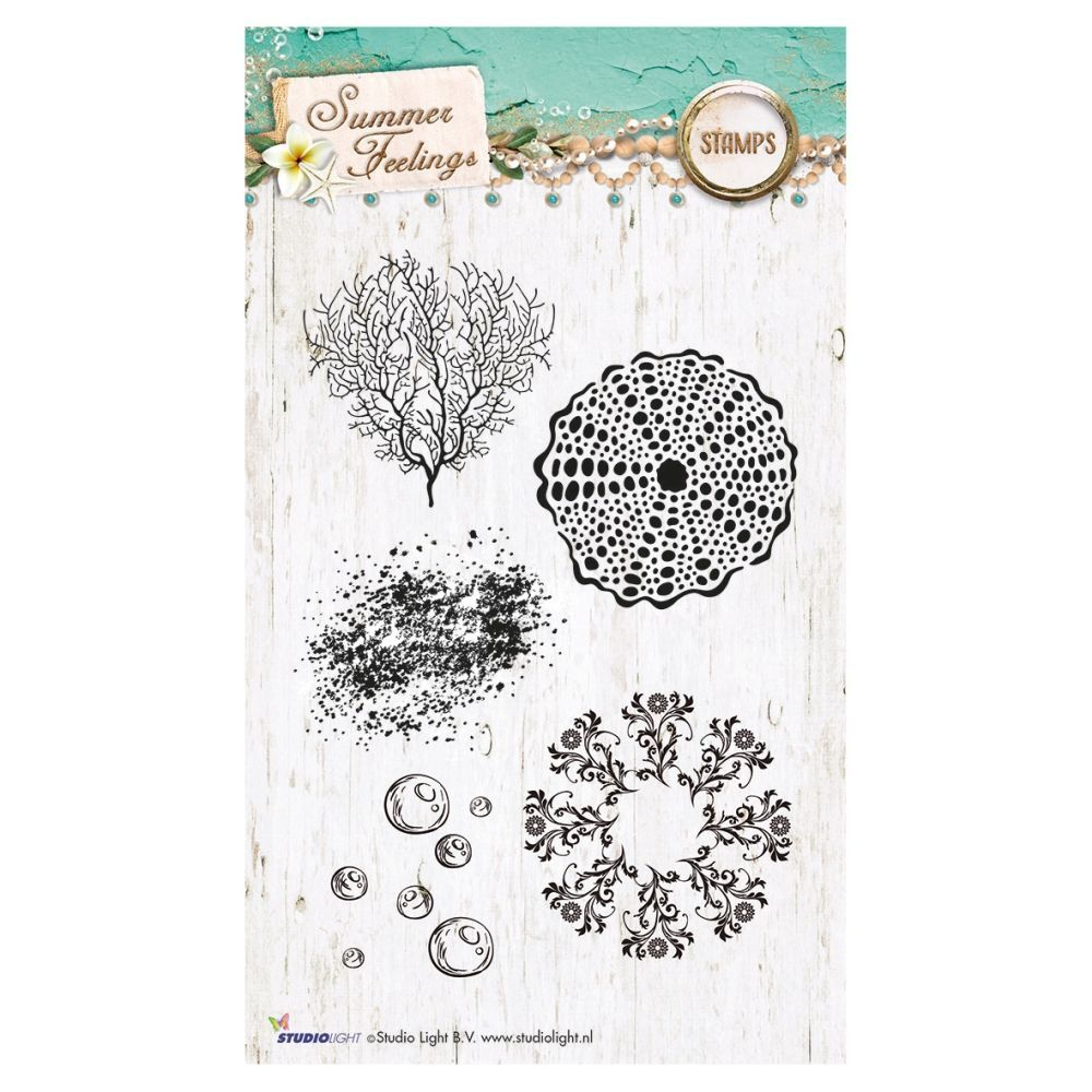 Stempel Clear, Summer Feelings, A6 / 105 x 148 mm, 5 - teilig, transparent 191