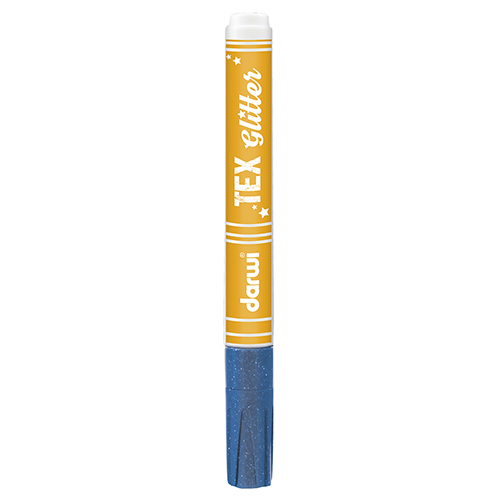 TEX GLITTER Marker, 145 x 13 x 13 mm, 6 ml, blau