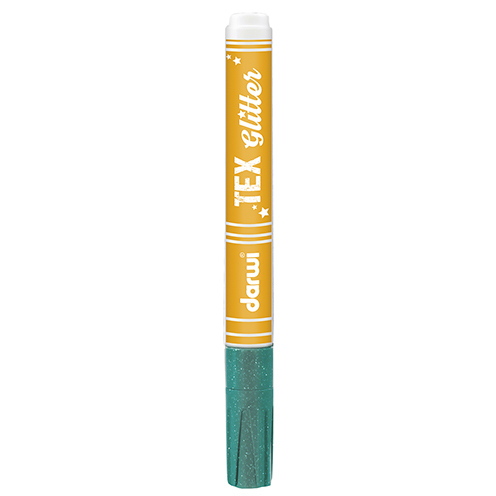 TEX GLITTER Marker, 145 x 13 x 13 mm, 6 ml, türkis