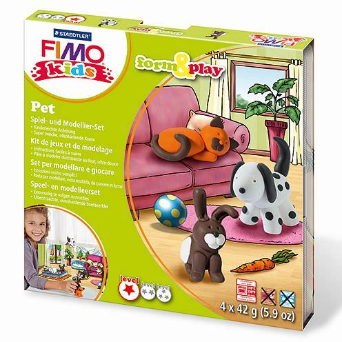 Fimo® Kids form & play, Pet, 7 - teilig