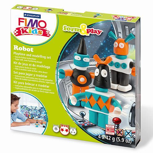 Fimo® Kids form & play, Robot, 7 - teilig