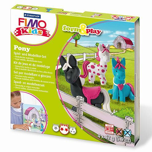Fimo® Kids form & play, Pony, 7 - teilig