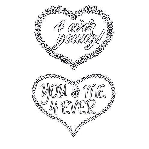 Stempel Clear, 4 ever young!, A7 / 74 x 105 mm, 2 - teilig, transparent