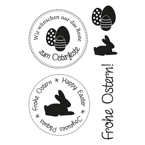 Stempel Clear, Ostern 1, Ostern 1, 5 - teilig, transparent